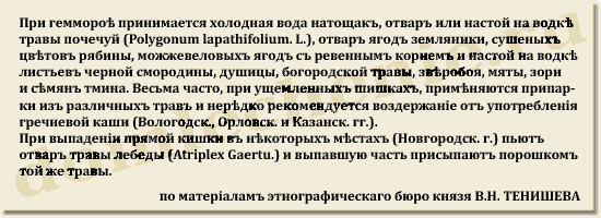 Русская народно-бытовая медицина, 1903 год